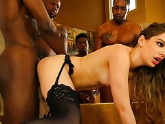 Bobbi Dylan is a queen of seduction and she loves interracial gangbang sex