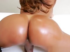 Solo tranny in XXX underwear fingers her ass