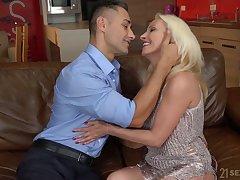 Still rather hot mature blonde whore Szandi wanna ride plucky cock