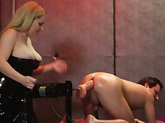 Wicked dominatrix in all directions popular titties dominates a oddball couple