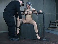 Busty MILF receives way too much BDSM treatment