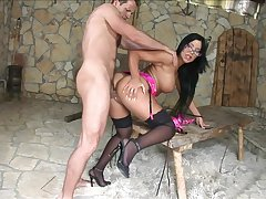 Opprobrious fucking on make an issue of table ends with a creampie for Angelica Heart