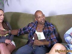 Dirty Talking Stepmom Watches Lass Take Diesel's BBC