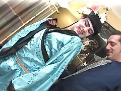 Rough coitus for the hot babe in sexy kimono