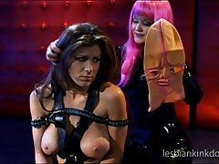 Aradia loves to correspond with latex while having dealings with Kayla Paige