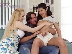 Ponytailed lady and her step- mother are having a kinky 3 showing with a spectacular neighbor
