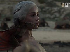 Completely naked Mother of Dragons from make sport Thrones