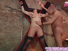 german dutiful sweeping fucks in fetish room with a user