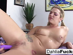 Disappointing pink sock hottie Dhalia Sky