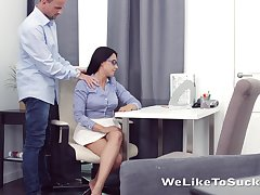 Kinky teacher fucks indiscretion anus and pussy of nerdy full force student Chanel Lux