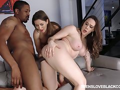 Funereal dick FFM triple-date for darlings Chanel Preston increased by Paige Owens
