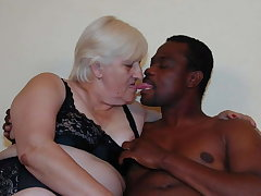 Blonde BBW granny fuck with reference to BBC