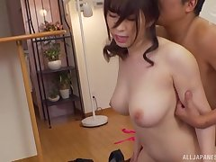Gentle fucking in excess of the bed with hot ass Japanese MILF Takarada Monami