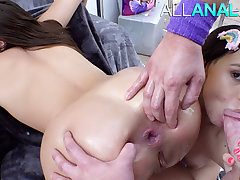ALL ANAL Gia coupled with Violet are certified buttsluts
