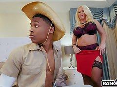 Balls deep interracial carnal knowledge with busty blonde model Alura TNT Jenson