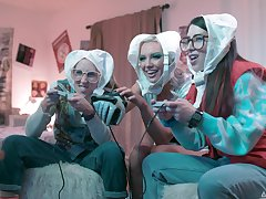 Nerds score a babe, featuring Inflection Lux, Serena Blair and Kenzie Taylor