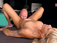 German anorectic blonde unskilful milf make the beast with two backs