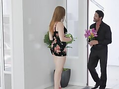 Cool man met charmer dressed up like slut together in the matter of had intercourse in the matter of the brush