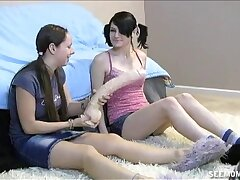 Video of team a few man acquiring blowjobs by Chloe Dam increased by two teens