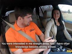 Amateur czech pupil driver doll banged on backseat
