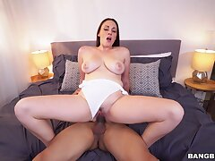 Dashing MILF taped riding like a trollop and begging for sperm