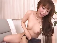 Exciting a racy Asian pussy