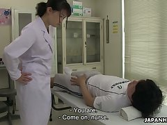 Turned on notwithstanding how shy looking Japanese take charge of Sayaka Aishiro gives nice blowjob