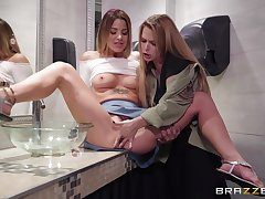 Evelin Stone is ready for her first coitus with her lesbian friend