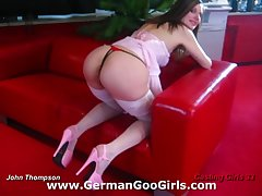 Girls in stockings model their cunts and asses