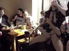 Euro spinner group fucked in public