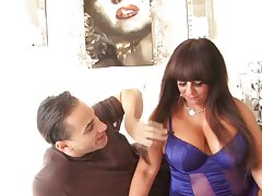 Big tittied mature BBW Cassidey is fucked by young handsome boyfriend